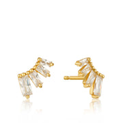 Ania Haie Glow Bar Stud Earrings - Gold