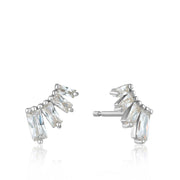 Ania Haie Glow Bar Stud Earrings - Silver