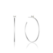Ania Haie Glow Hoop Earrings - Silver