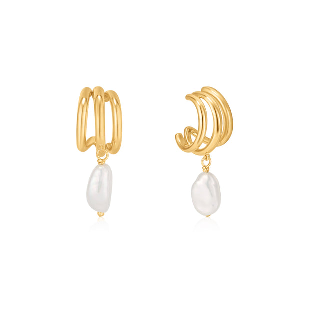 Ania Haie Gold Triple Mini Hoop Earrings