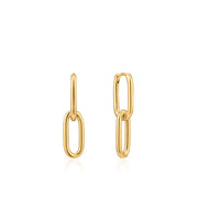 Ania Haie Cable Link Earrings - Gold