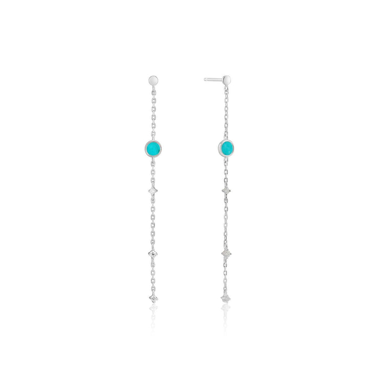 Ania Haie Turquoise Drop Earrings - Silver