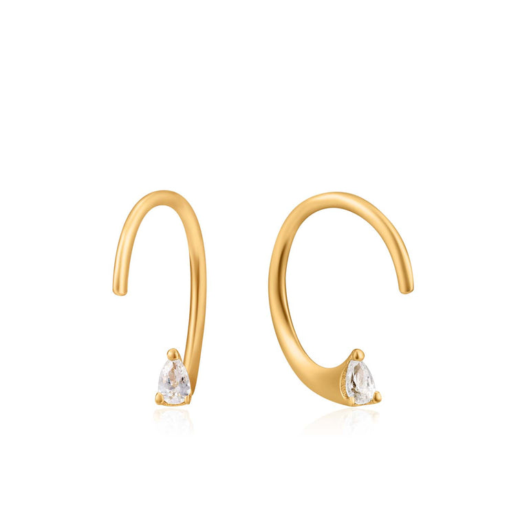 Ania Haie  Twist Sparkle Earrings - Gold