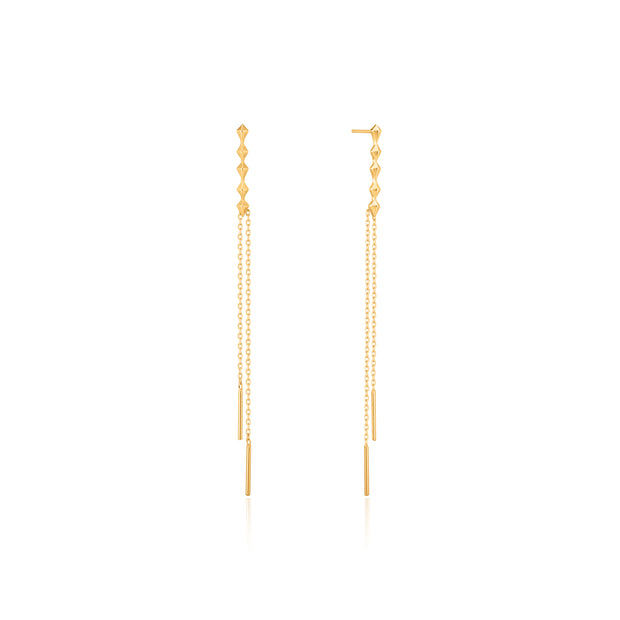Ania Haie Gold Spike Double Drop Earrings