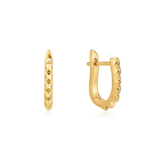 Ania Haie Gold Spike Huggie Hoop Earrings