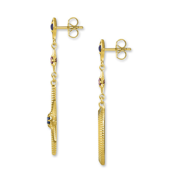 Thomas Sabo Royalty Star & Moon Earrings  - Gold