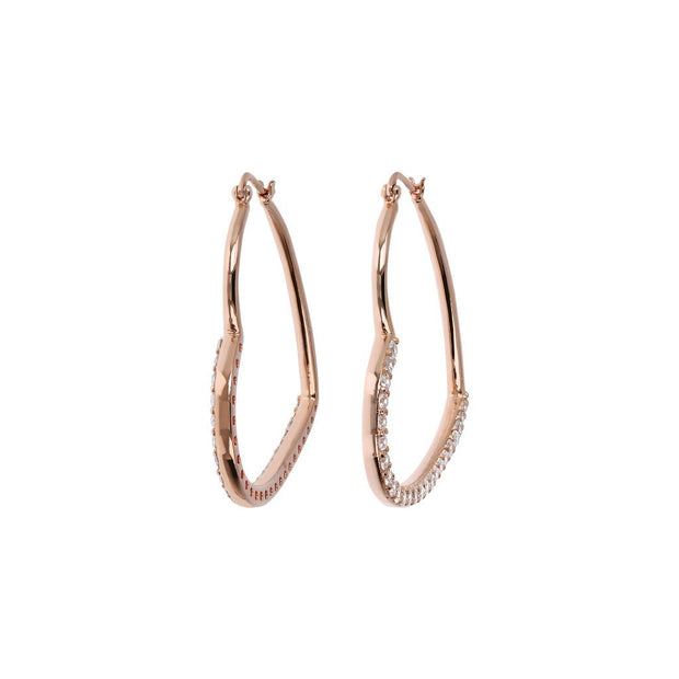 Bronzallure Hearts Earrings Cubic Zirconia