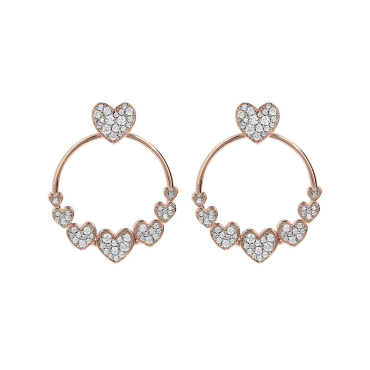 Bronzallure Hoop Earrings Hearts