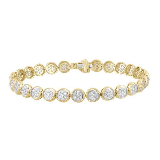 Bracelet with 2ct Diamonds in 9K Yellow Gold