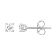 Stud Earrings with 0.3ct Diamonds in 9K White Gold