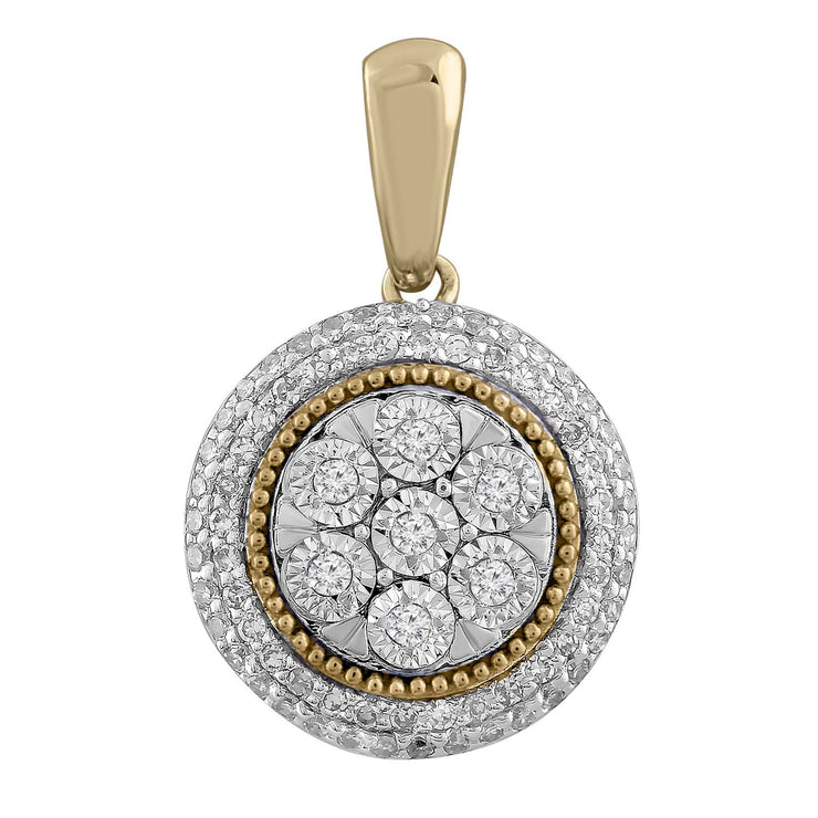 Pendant with 0.15ct Diamond in 9K Yellow Gold