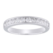 Band Ring with 0.5ct Diamond in 9K White Gold