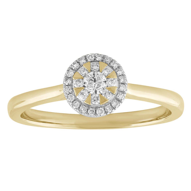 Ring with 0.2ct Diamond in 9K Yellow Gold