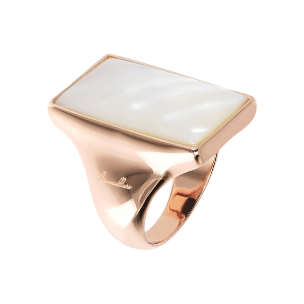 Bronzallure Rectangular Stone Adjustable Ring