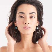 Turquoise Front Hoop Earrings - Ania Haie Jewellery