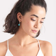 Turquoise Disc Hoop Earrings - Ania Haie Jewellery