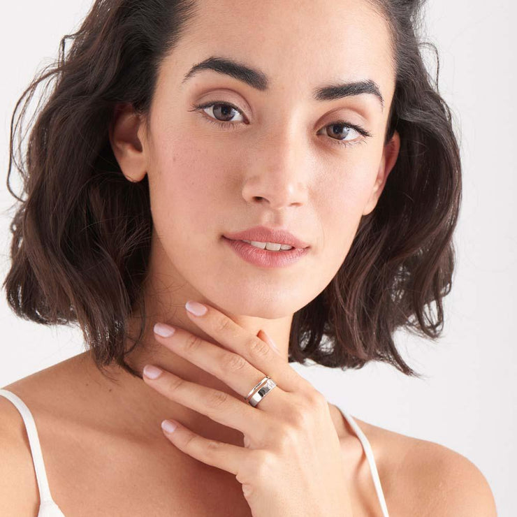 Glow Wide Adjustable Ring - Ania Haie Jewellery