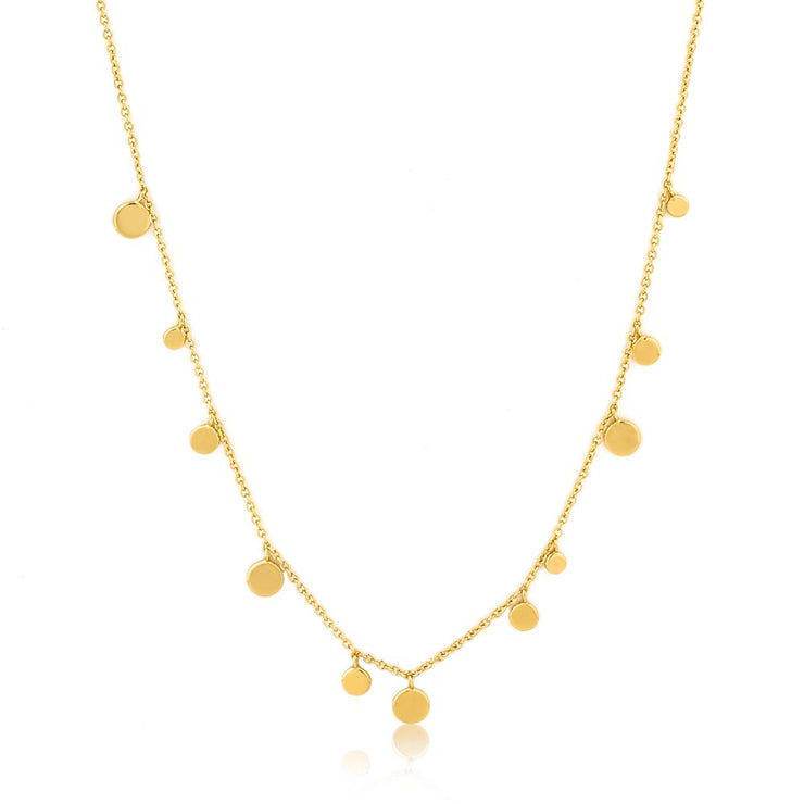 Ania Haie Geometry Mixed Discs Necklace - Gold