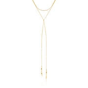 "Ania Haie Helix Lariat 16"" Necklace - Gold"