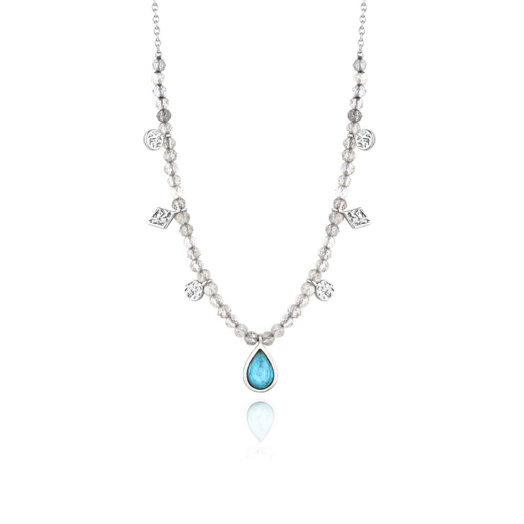 Ania Haie Turquoise Labradorite Necklace - Silver