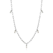 Ania Haie Glow Drop Necklace - Silver