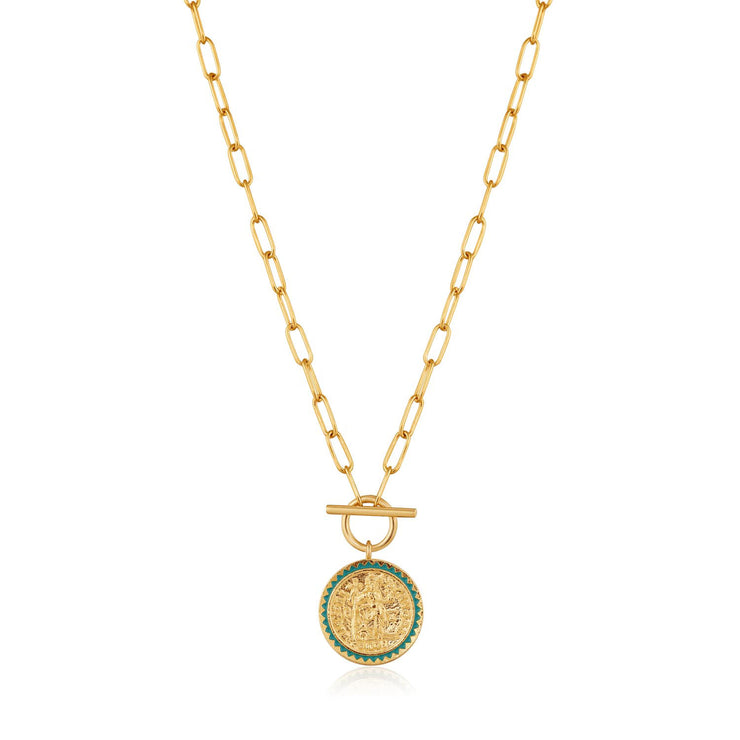 Ania Haie Emperor T-Bar Necklace  - Gold