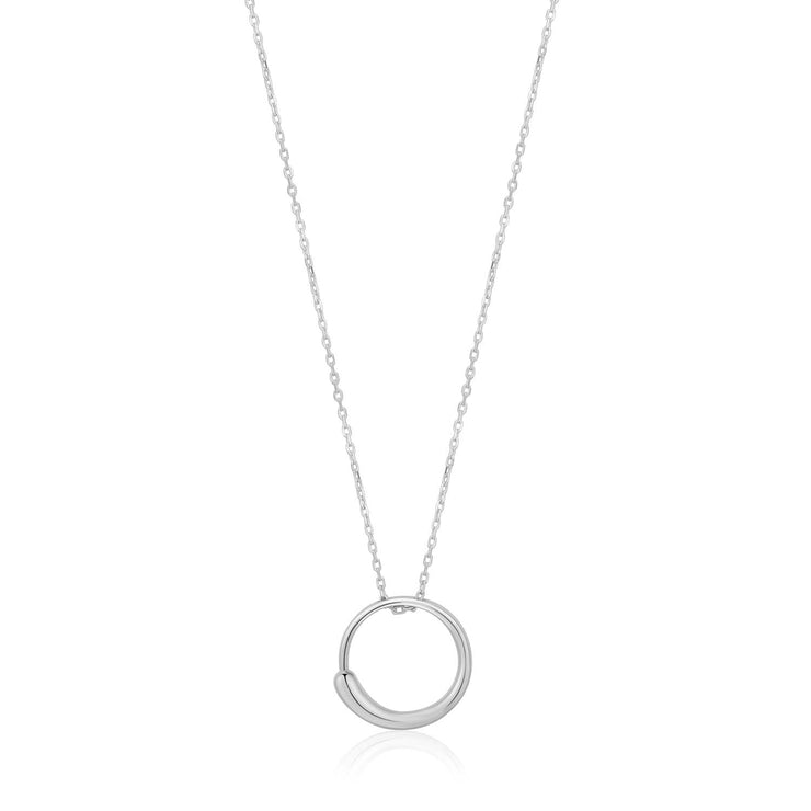 Ania Haie Luxe Circle Necklace  - Silver