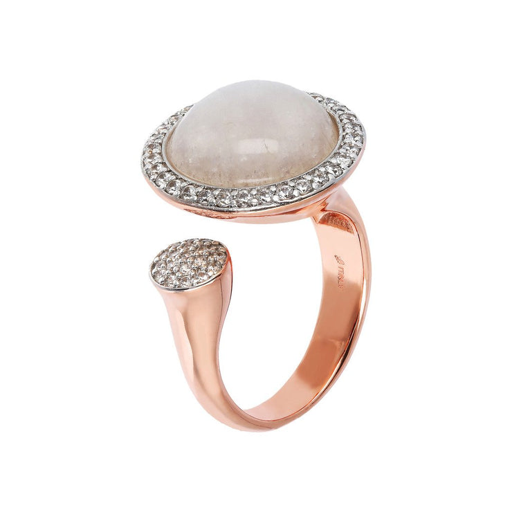 Bronzallure Open Ring with Gemstones
