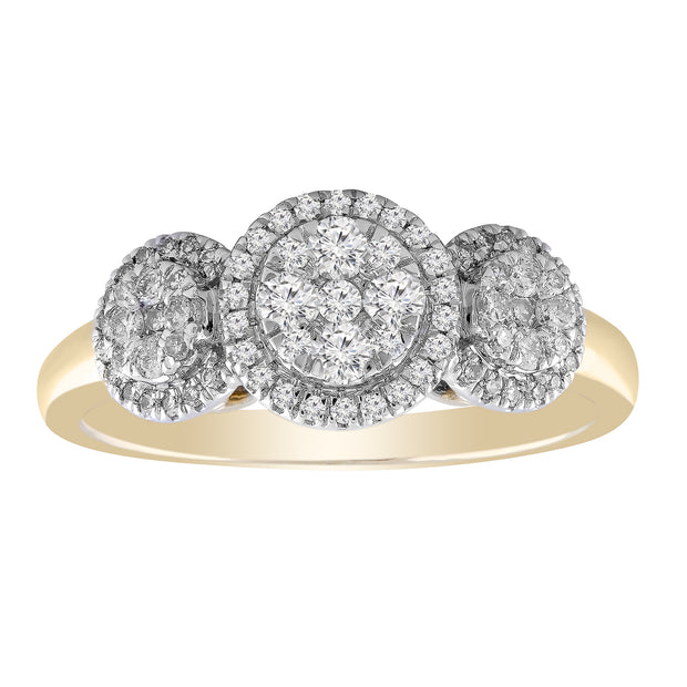 Ring with 0.5ct Diamond in 9K Yellow Gold