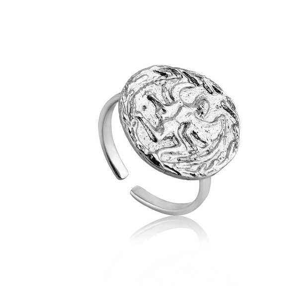 Ania Haie Boreas Adjustable Ring - Silver