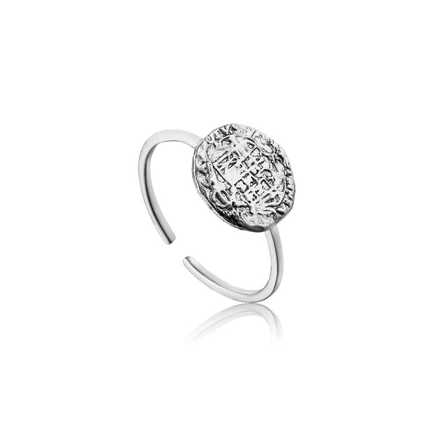 Ania Haie Emblem Adjustable Ring - Silver