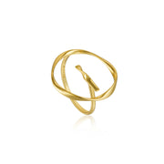 Ania Haie Twist Circle Adjustable Ring - Gold
