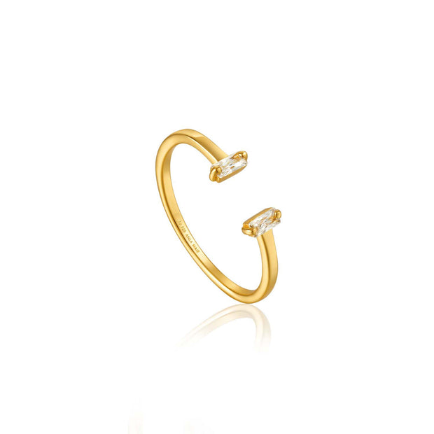 Ania Haie Glow Adjustable Ring - Gold