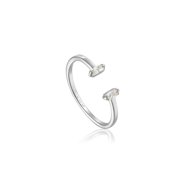 Ania Haie Glow Adjustable Ring - Silver