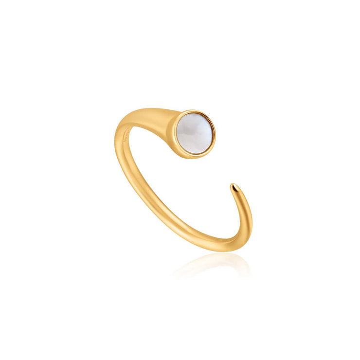 Ania Haie Mother Of Pearl Claw Ring - Gold