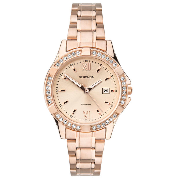 Sekonda Women's Rose Gold Bracelet Watch SK40038