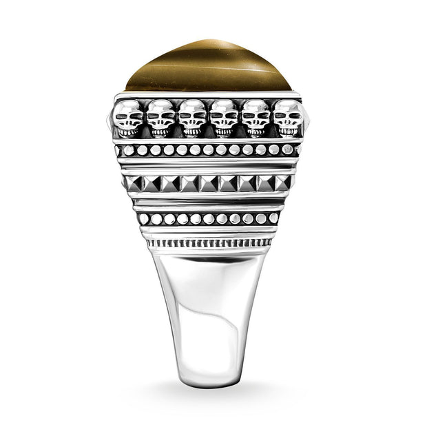"Thomas Sabo Ring ""Ethnic Skulls Black"""