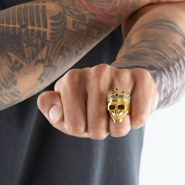 Thomas Sabo Ring Skull Gold | The Jewellery Boutique