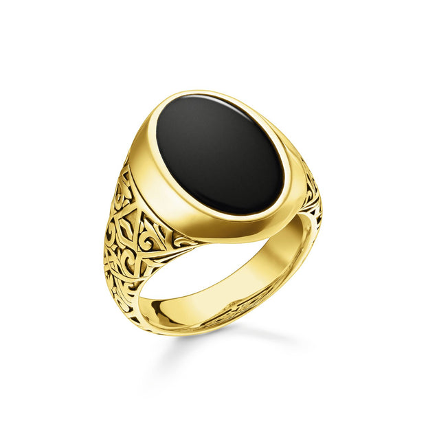 Thomas Sabo Ring Black Gold | The Jewellery Boutique