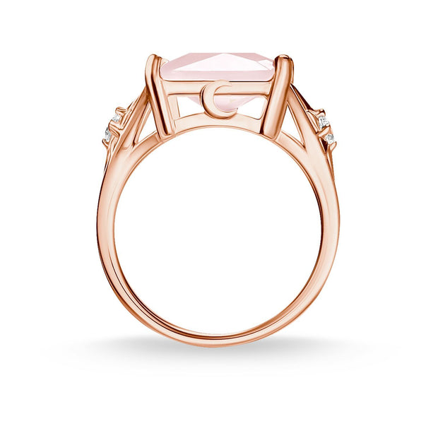 Thomas Sabo Ring Large Pink Stone With Star
