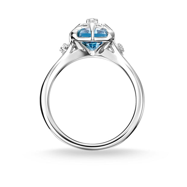 Thomas Sabo Ring Blue Stone With Star