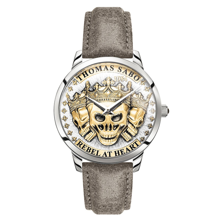 Thomas Sabo Men's Watch Rebel Spirit 3D Skulls, Gold