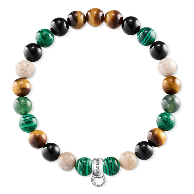 "Thomas Sabo Charm Bracelet ""Brown, Green, White"""
