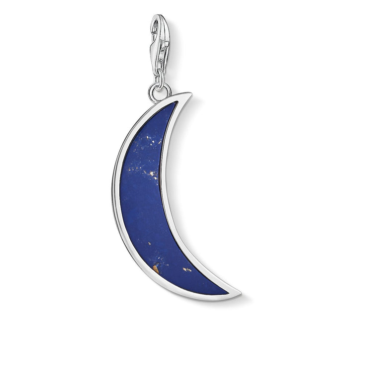"Thomas Sabo Charm Pendant ""Moon Dark Blue"""