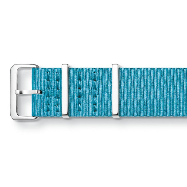 "Thomas Sabo Watch Band ""Code Ts Nato Turquoise"""