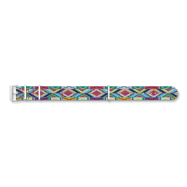 "Thomas Sabo Watch Band ""Code TS Nato Coloured Graphic Patterns"""