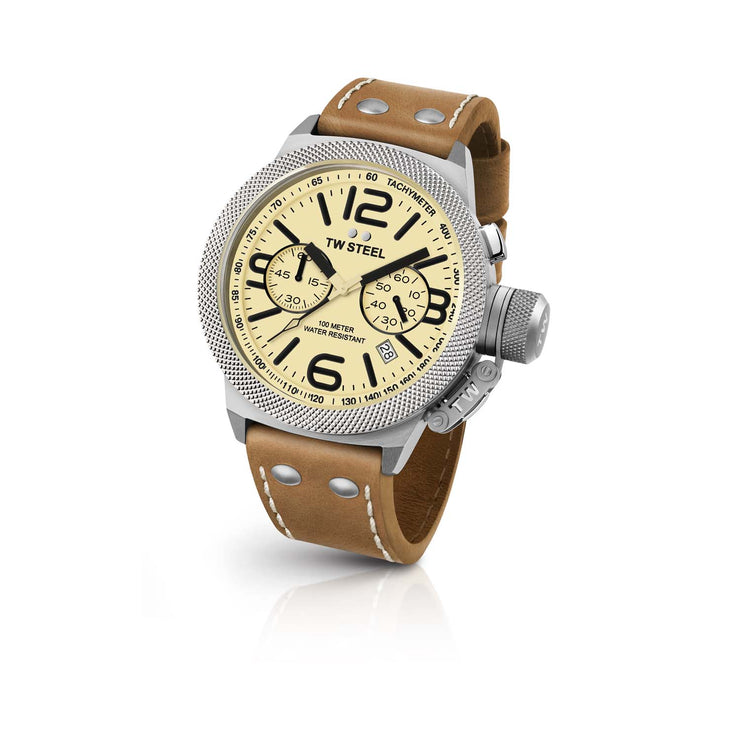 TW Steel Canteen Leather Unisex Watch CS13