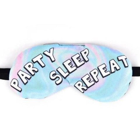 "Masque de Nuit Original <br /> ""party sleep repeat"" - Le-Roi-du-Sommeil"