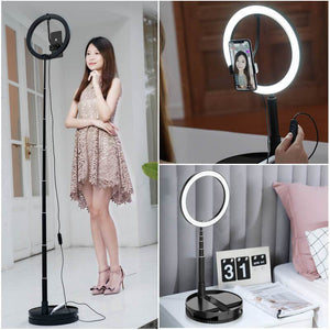 "10"" Stretchable LED Ring Light with Stand - iyougood"