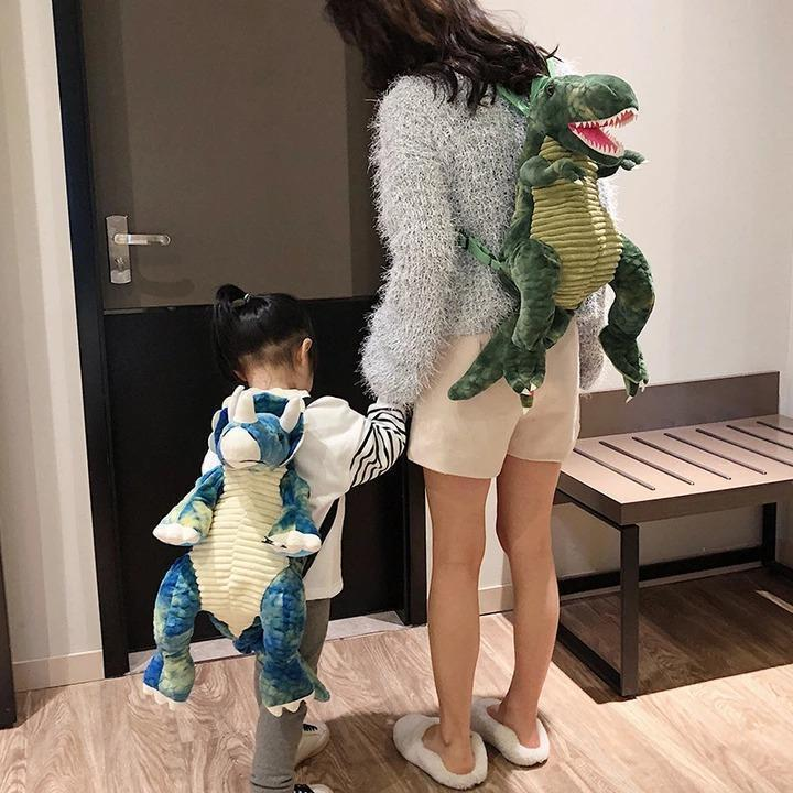 💕50% OFF💕Women's And Children's Cool Cartoon Big Dinosaur Backpack